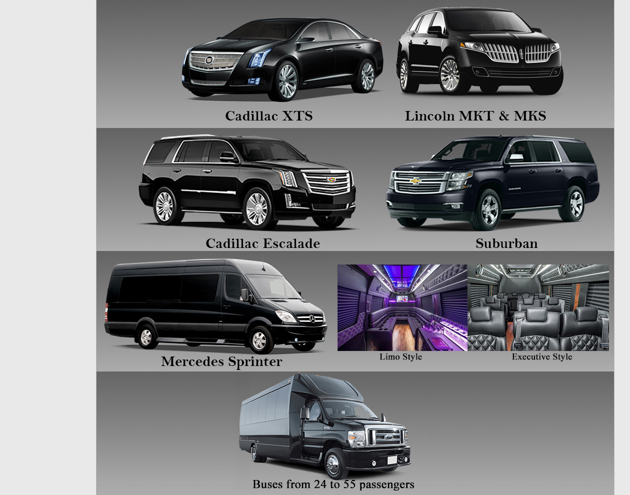 LSG Limo Vehicles